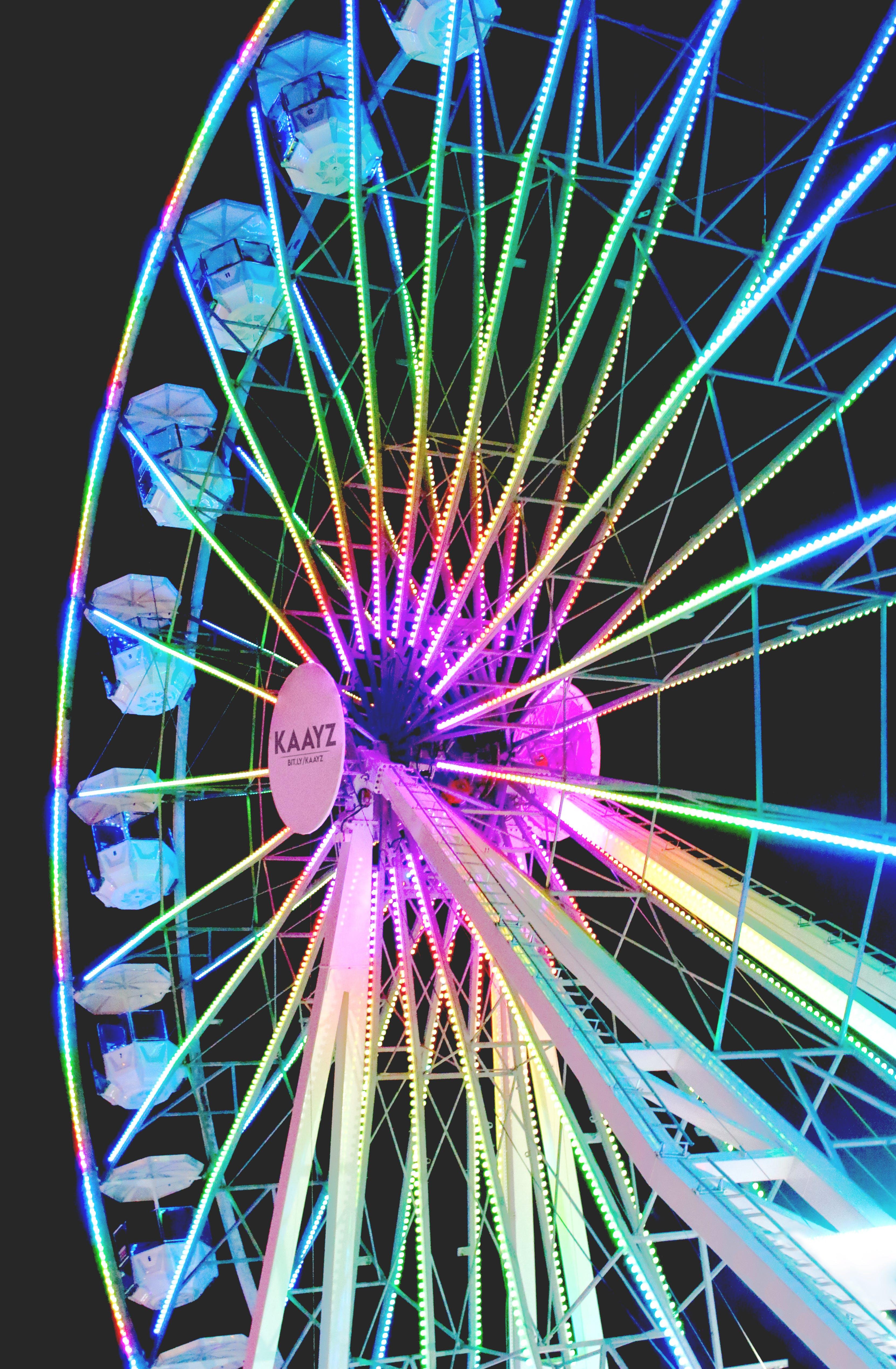 Free stock photo of ferris wheel, night