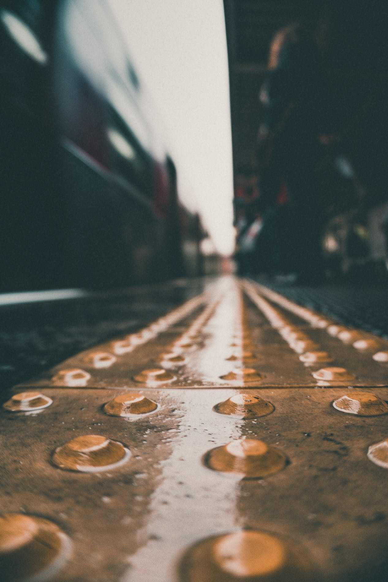 Free stock photo of city, blur, wet, floor