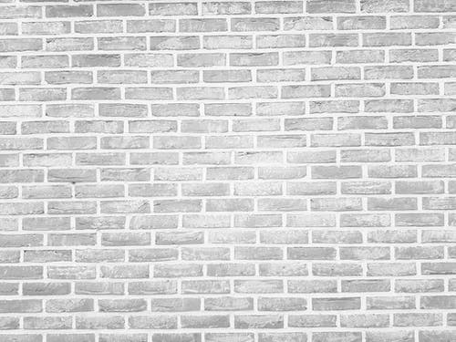 White and Black Brick Wall