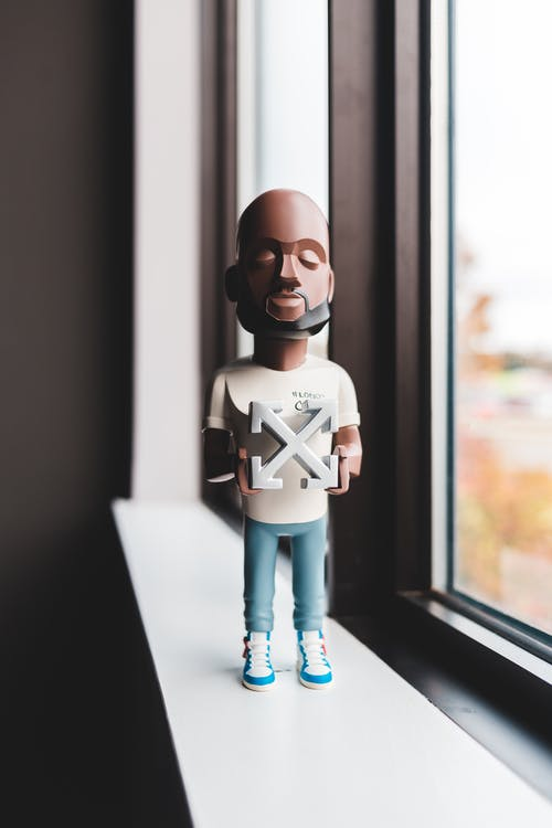 Figurine of director of fashion house