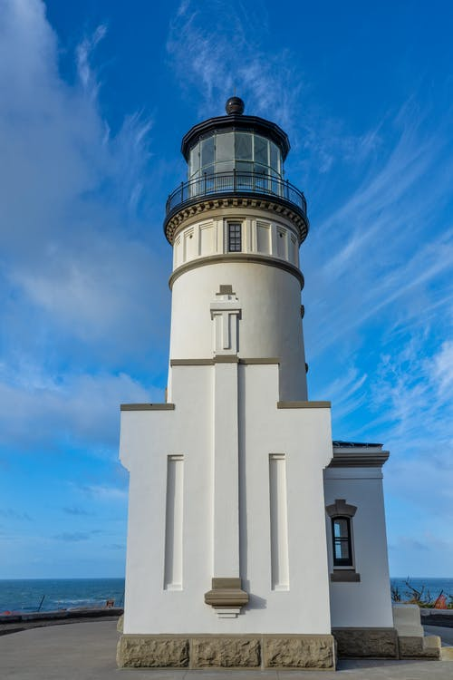 Cape Disappointment Lighthouse Under Blue Sky