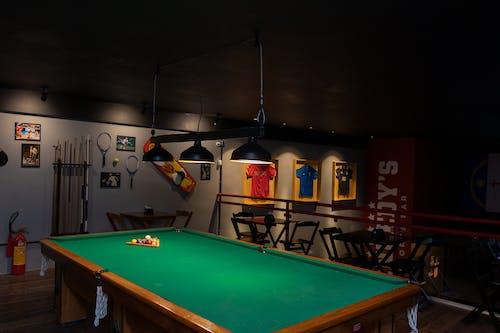 Billiard Table With Billiard Balls and Billiard Balls