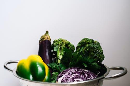 Vegetables on a Strainer