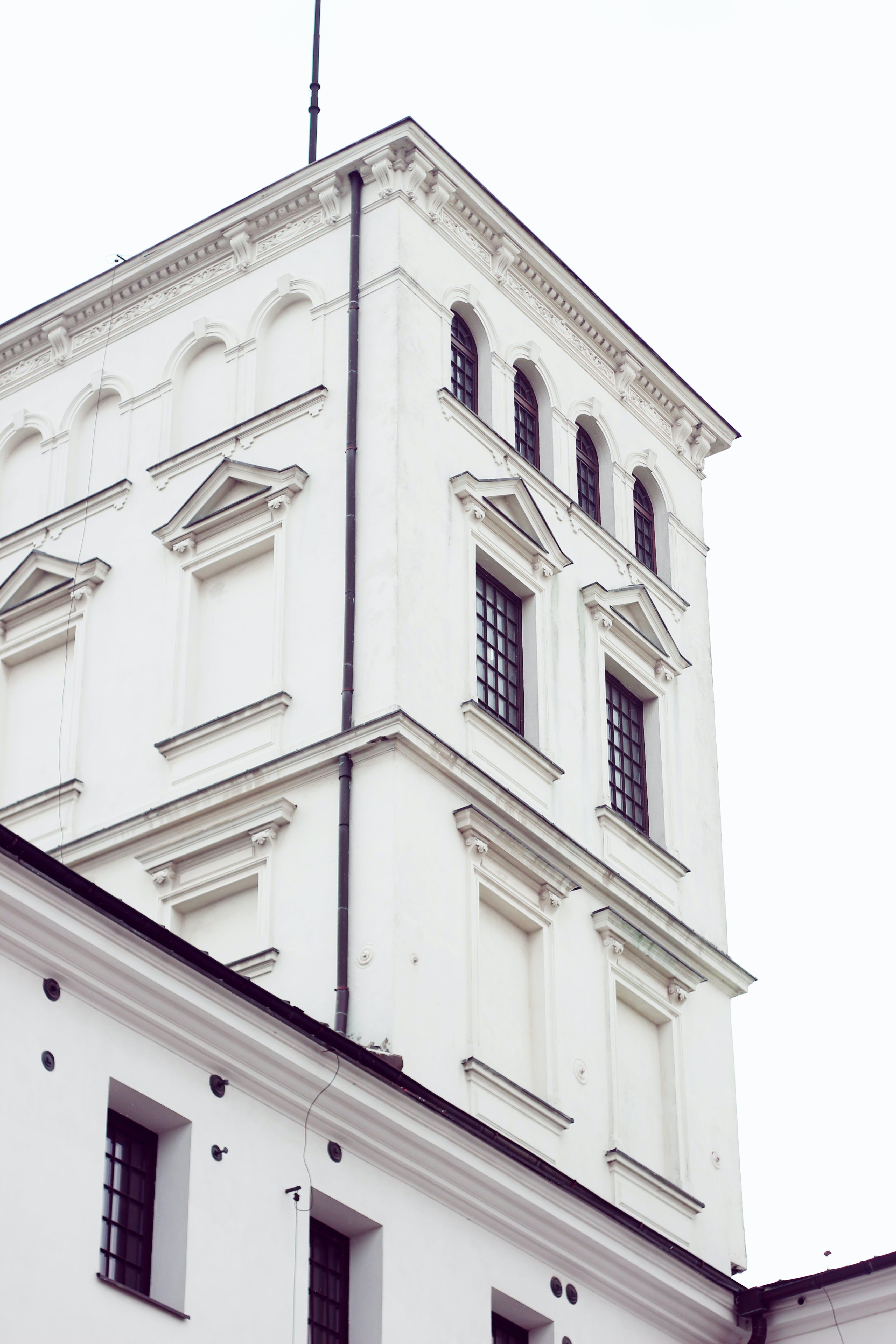 aparência, arquitetura, branco