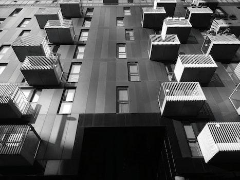 Free stock photo of city, sky, building, glass