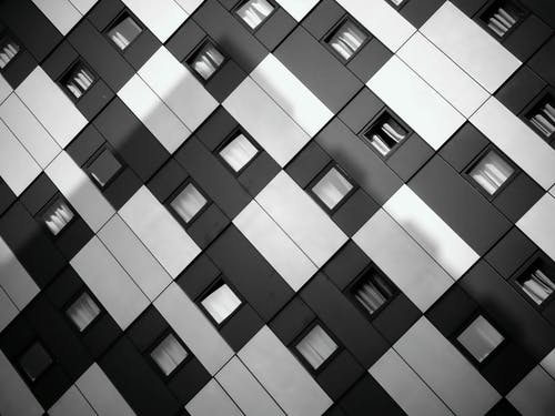 White and Black Checkered Building