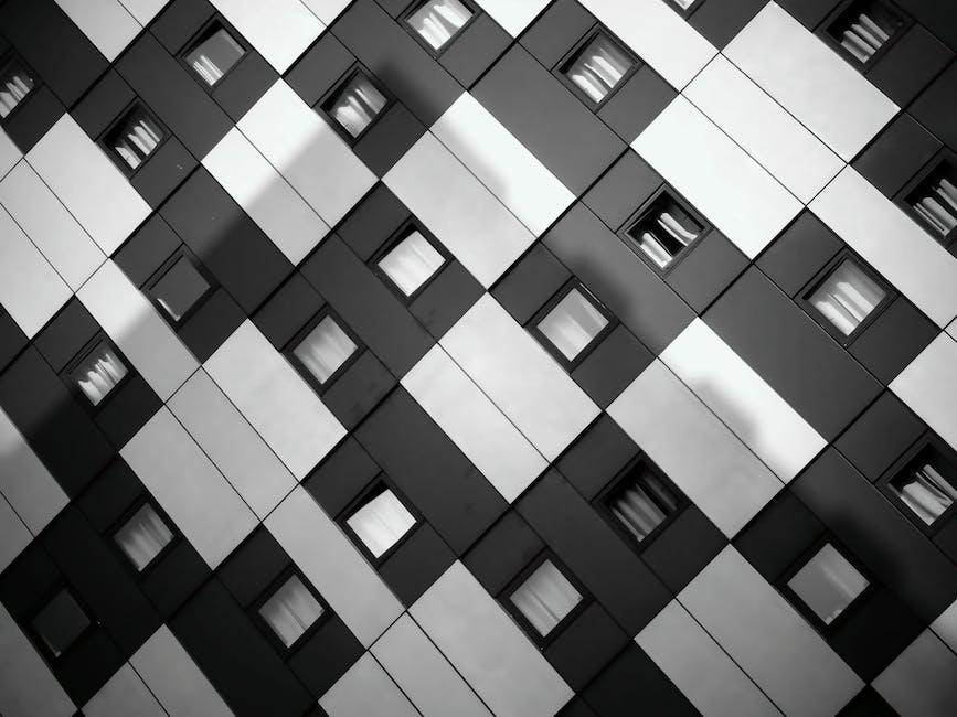 Art artistic black and white building exterior