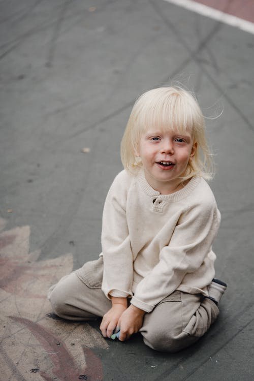 Cute little girl looking at camera