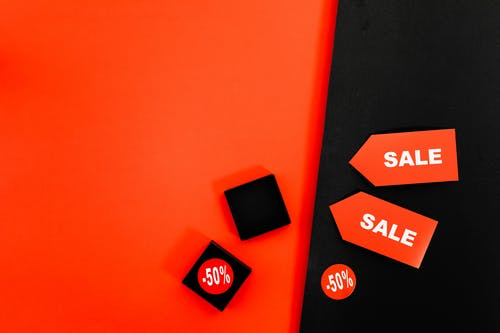 Flat Lay Of Sale Tags