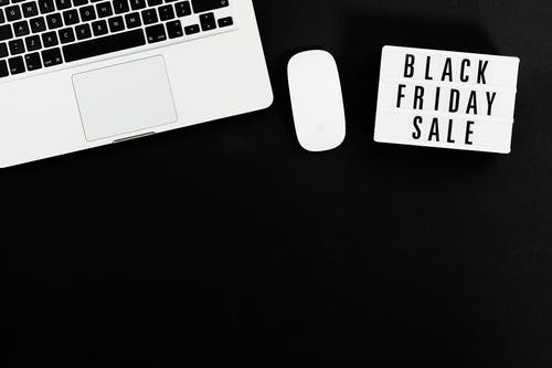 Silver and Black Laptop Computer Sale