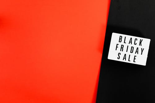 Black Friday Sale Sign On Black And Red Background