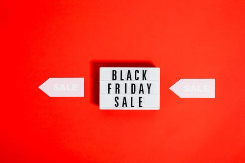 Black Friday Sale Sign On Red Background