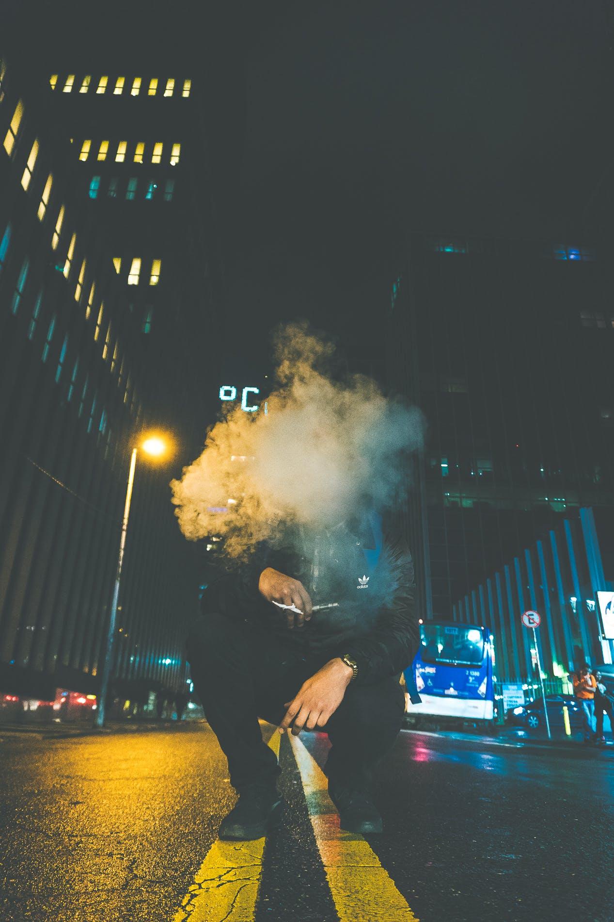 Man Cover by Smoke