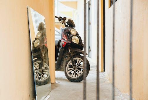 Free stock photo of bike, dominicana, mirror, mirror effect