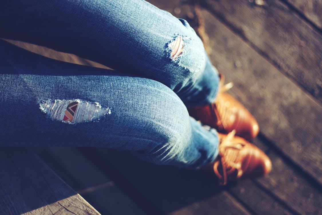 hipster, moda, pantaló texà