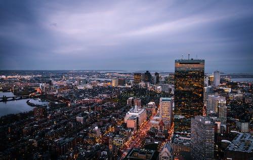 Ingyenes stockfotó alkonyat, belváros, Boston témában