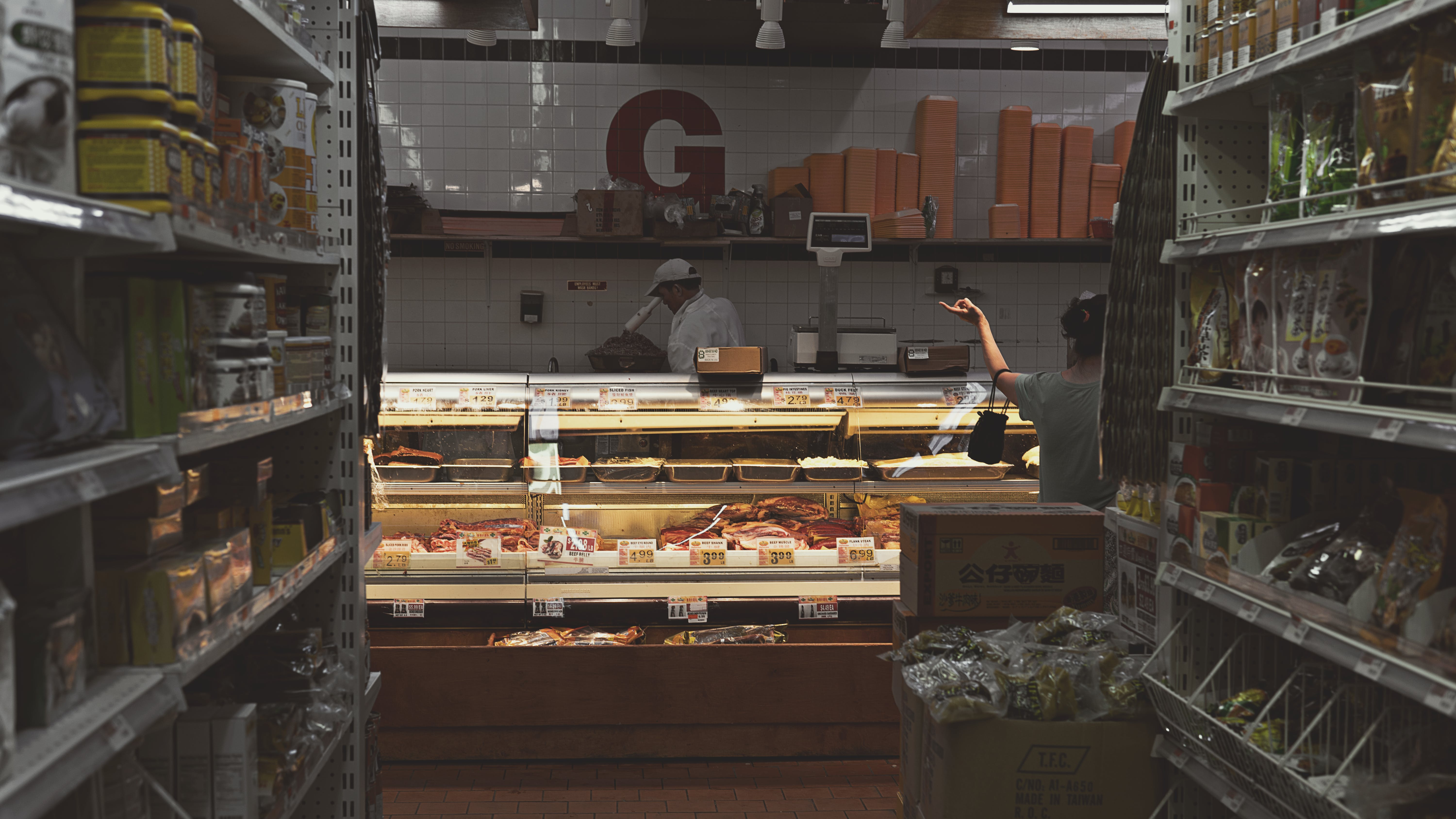 Free stock photo of supermarket, meat, Asian