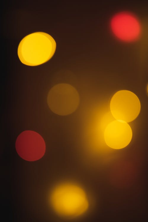 Yellow and Red Bokeh Lights