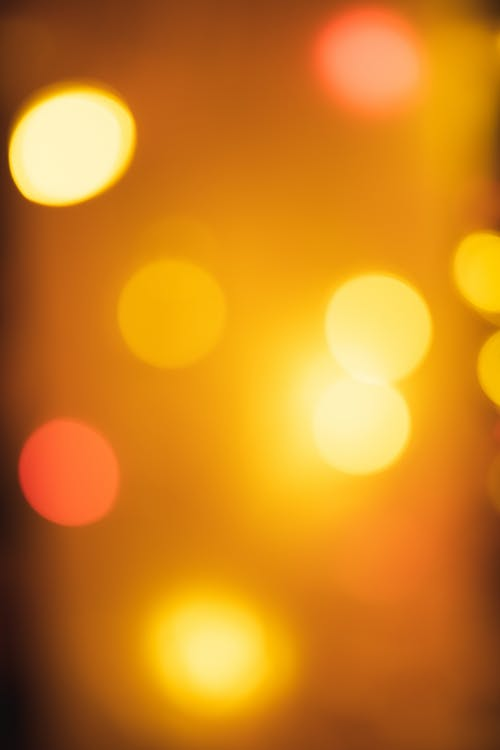 Orange and White Bokeh Lights