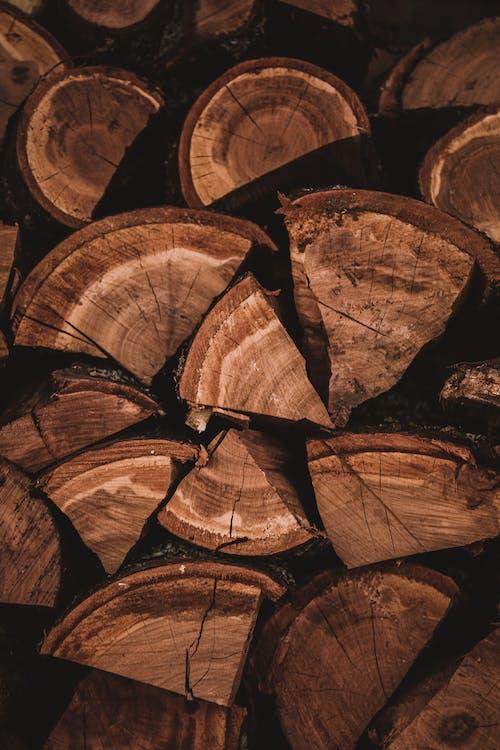 Brown Wooden Log Stack