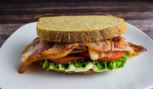Free stock photo of bacon, bacon lettuce tomato sandwich, blt sandwich