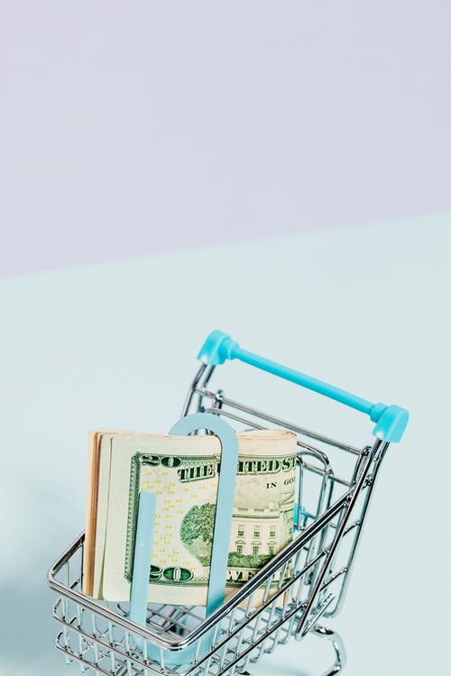 Ảnh lưu trữ miễn phí về buôn bán, đô la mỹ, giỏ hàng, hình nền tiền