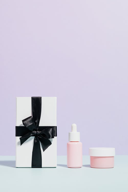 Beauty Products And Gift Box