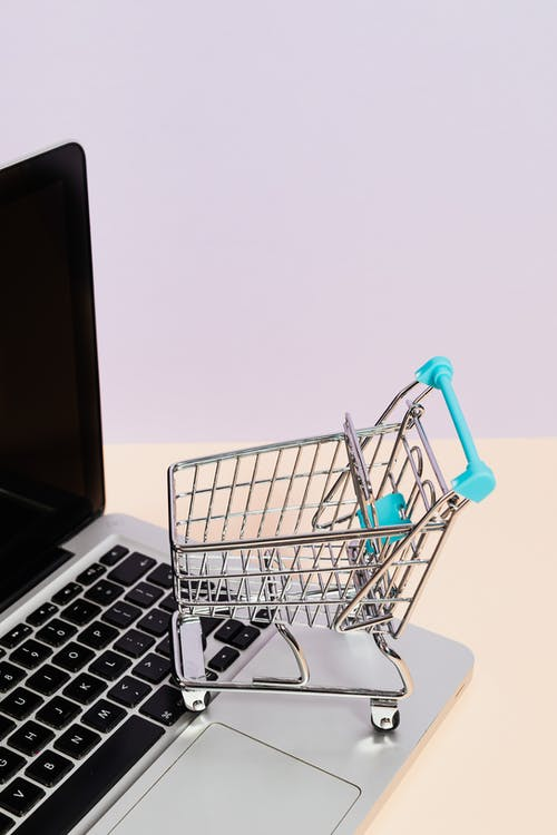 Shopping Cart on a Macbook