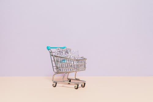 Ice in a Shopping Cart