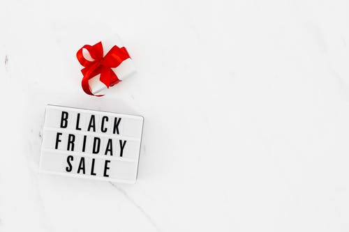 Black Friday Sign and a Gift Box