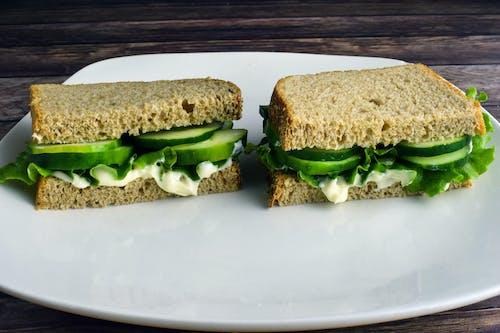 Free stock photo of bread, cucumber sandwich, cucumbers
