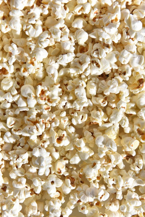 White Popcorn on White Surface