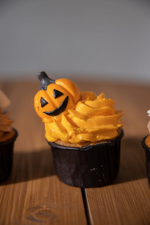 Halloween Cupcake on the Table