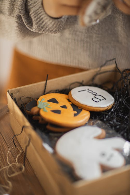 Box of Halloween Cookies
