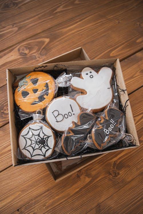 Box of Halloween Cookies