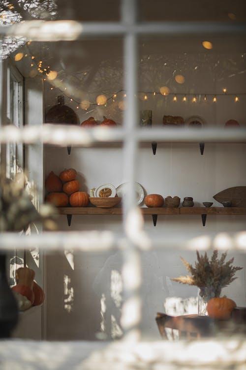 Orange Pumpkins Inside the Room