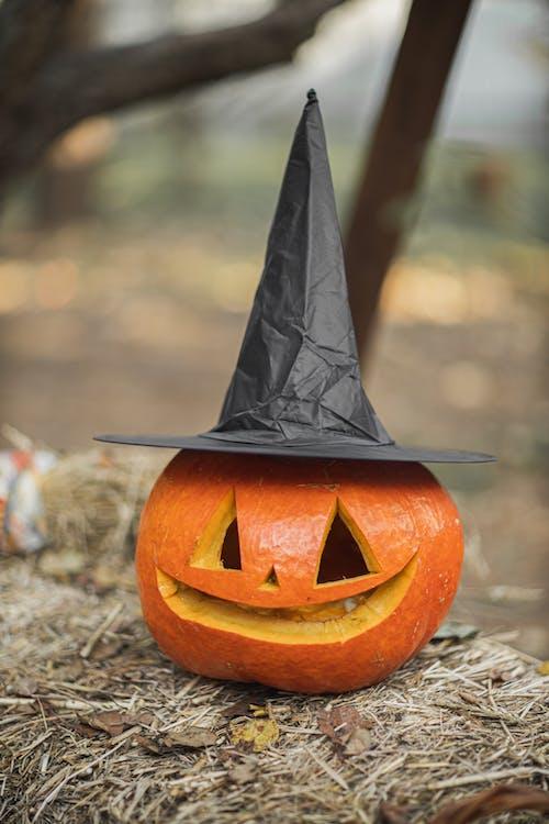 Jack-o'-lantern with Black Hat