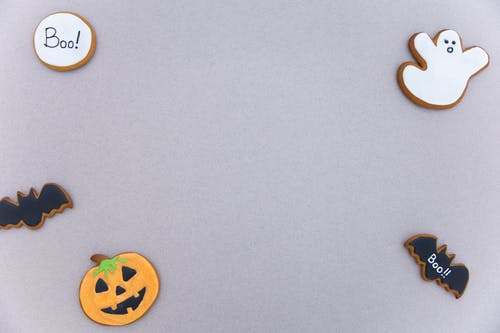 Brown and White Bear and Flower Shaped Cookies