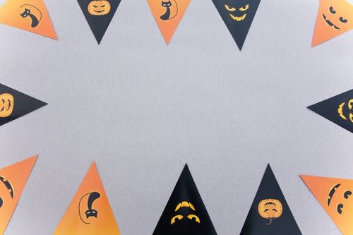 Black and Orange Halloween Wall Decor