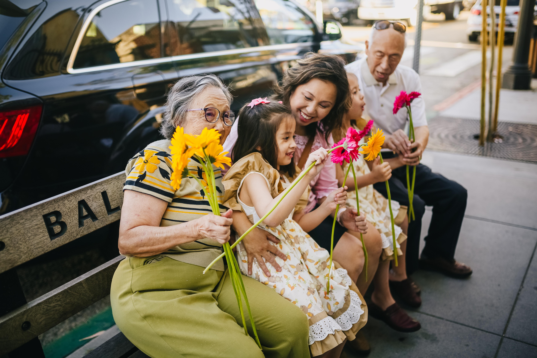 Senior citizens and family