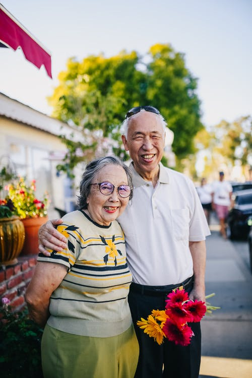 Portrait Of A Happy Elderly Couple