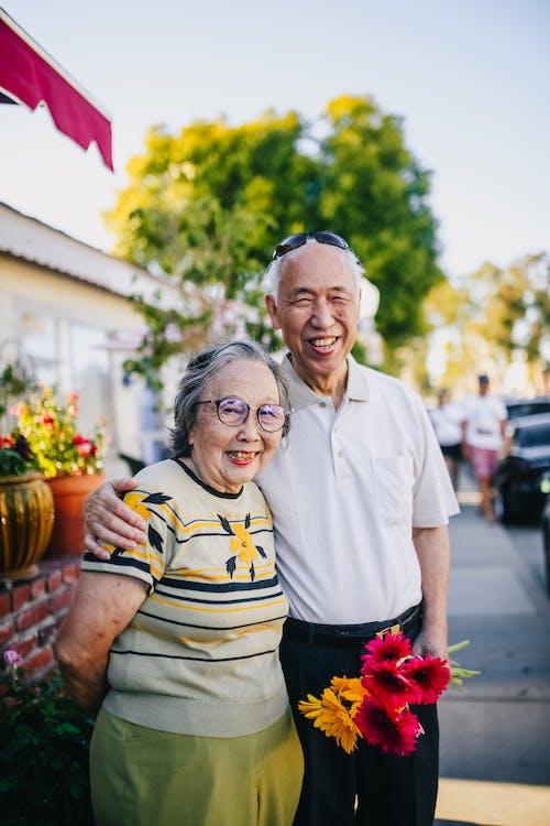 Portrait Of A Happy Elderly Couple