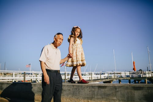 Grandpa with His Granddaughter