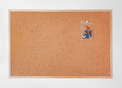 Pins on Blank Cork Board
