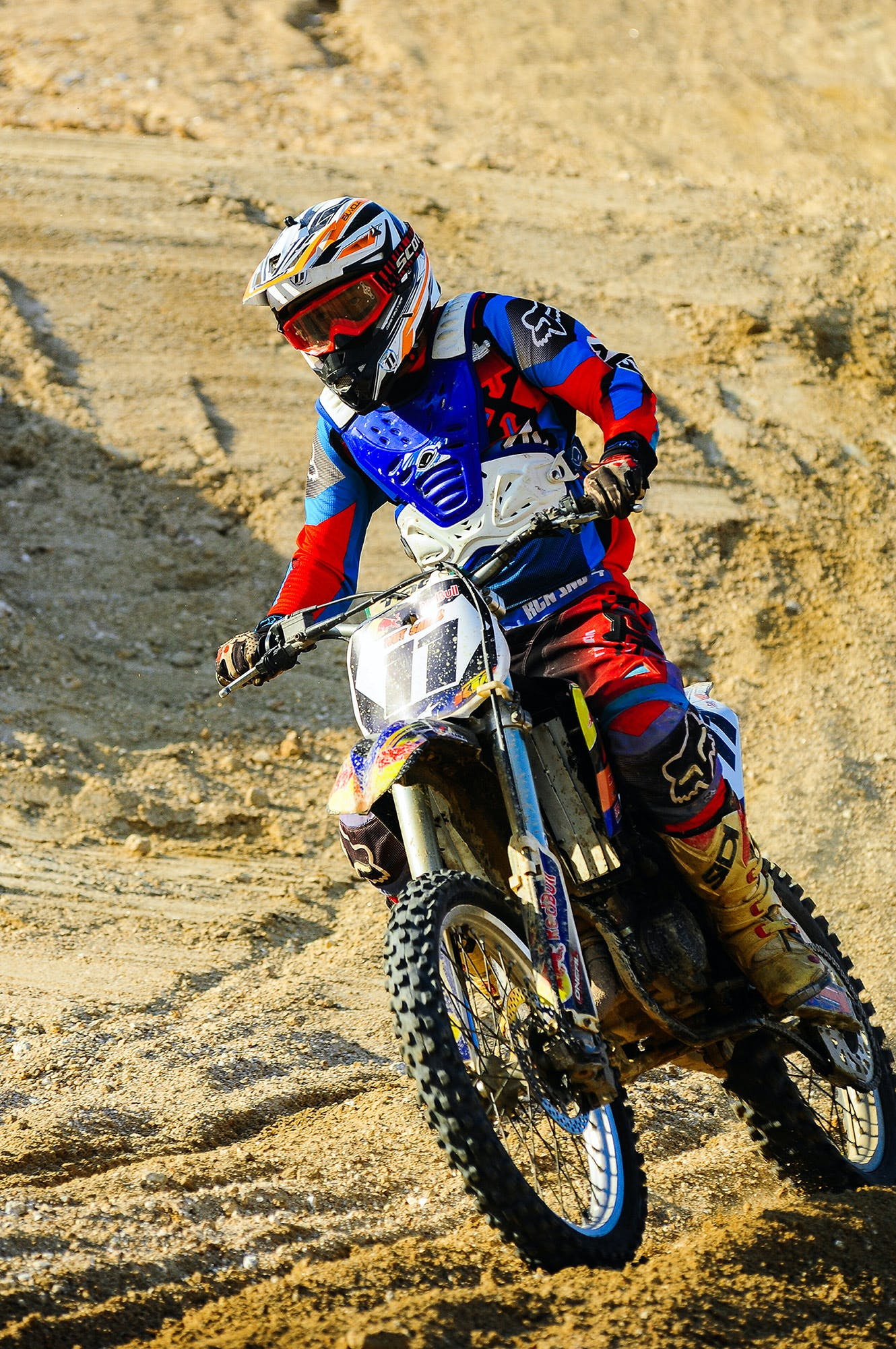 Man Riding on Motocross Dirt Bike