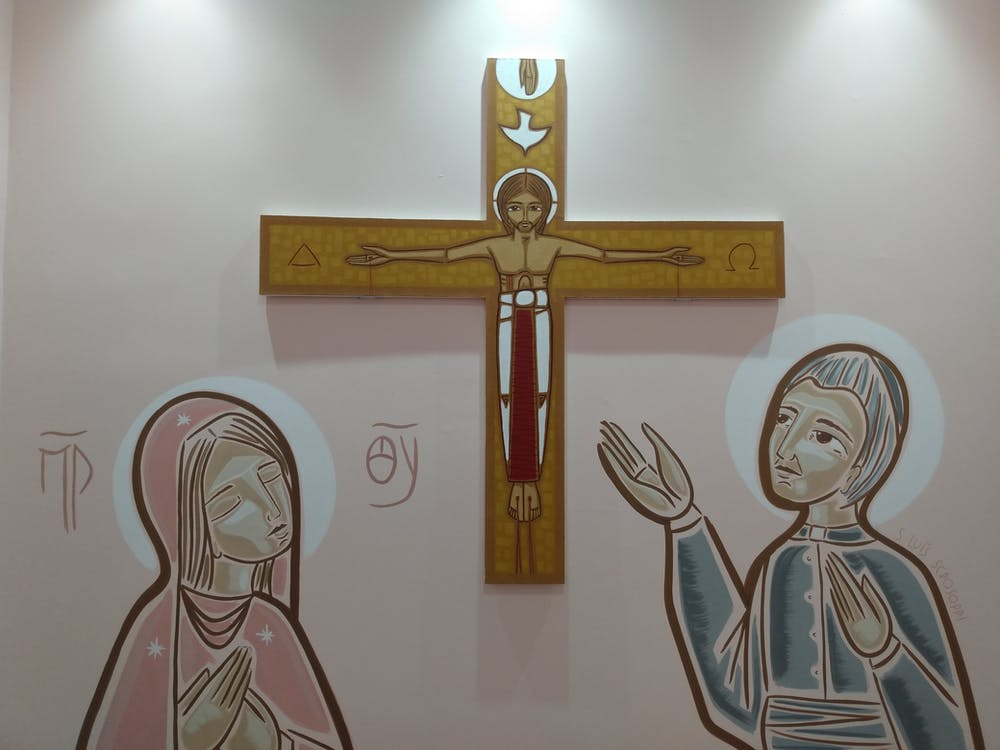 Brown Wooden Cross Wall Decor