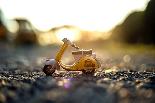 Free stock photo of golden hour, scooter, sunset, vespa