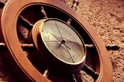Free stock photo of barometer, clock, close up, sailing
