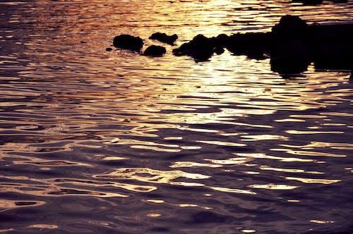 คลังภาพถ่ายฟรี ของ ตะวันลับฟ้า, ทะเล, น้ำ