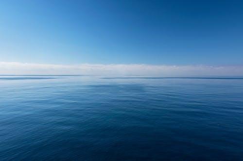 Blue Placid Ocean Under Blue Sky